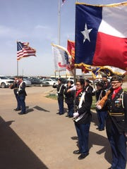 The Wichita Falls High School ROTC Color Guard took