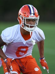 Clemson defensive back A.J. Terrell (8) during the