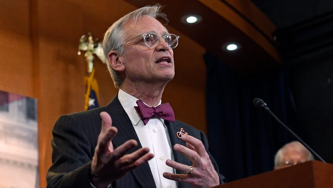 In this March 3, 2015, file photo, Rep. Earl Blumenauer, D-Ore., speaks on Capitol Hill in Washington.