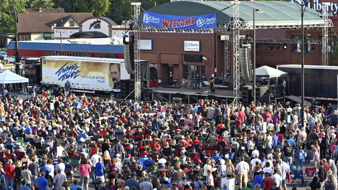 Travis Tritt performs during this year's Liberty Block Party at Liberty Square in downtown St. Cloud.