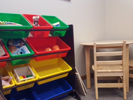 Therapists will watch children play at the Caravel Autism Health clinic in Schofield during the diagnosis process.