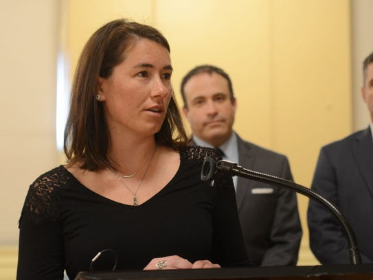 Chittenden County State's Attorney Sarah George speaks