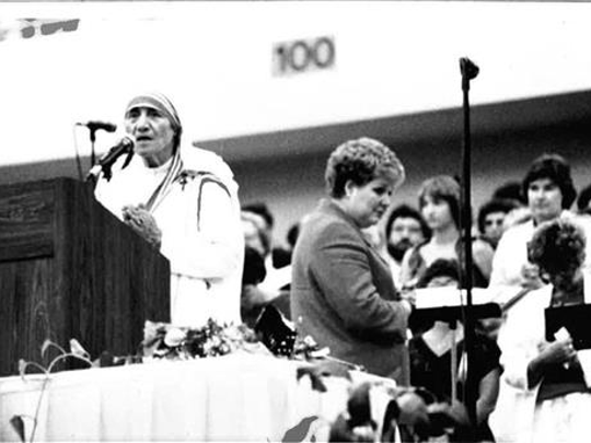 Mother Teresa made an appearance at the Cajundome July 10, 1986.