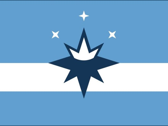 The flag proposed in 2017 by the Springfield Flag Movement