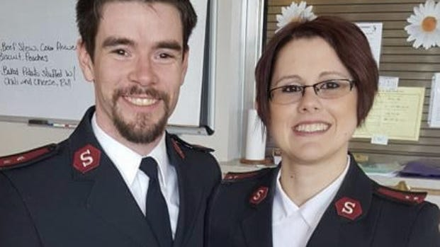 Captains Sean and Cassondra Grey have served in the Hillsdale area five years.
