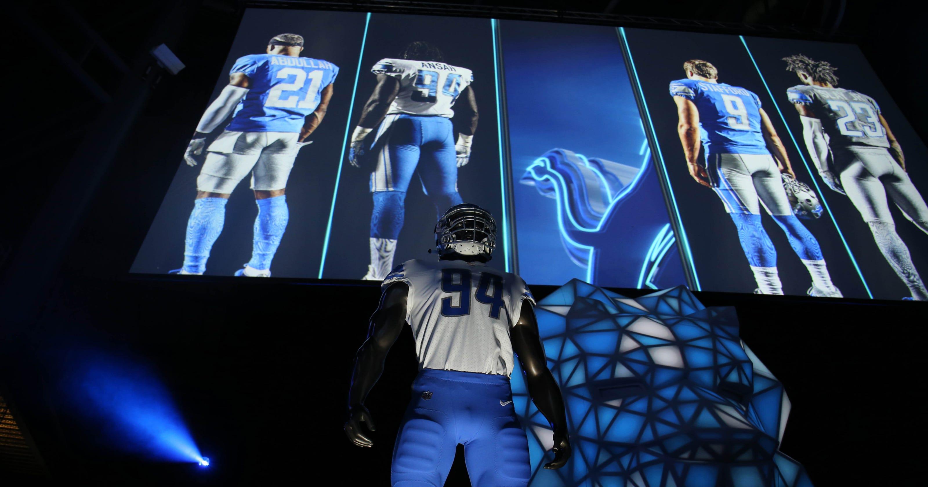 the latest 2cc92 0d223 Detroit Lions' new uniforms include throwback, Color Rush ...