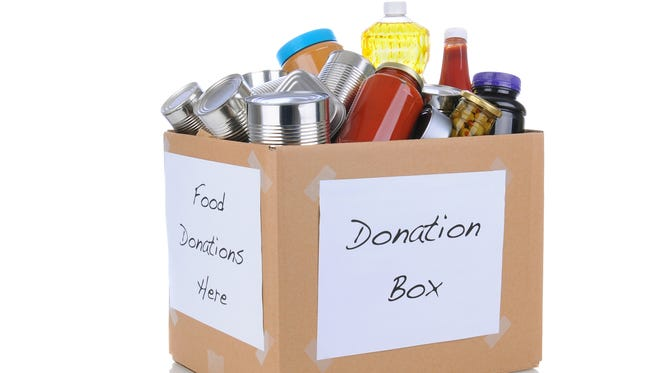 Items needed by food banks include cereal, dried or canned milk, peanut butter, canned chili and stew, beans, rice and meats like canned tuna and chicken.