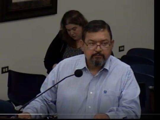 Nueces County Precinct 3 Constable Jimmy Rivera speaks