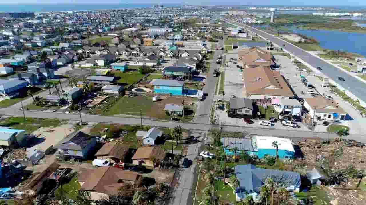 Aerial Footage Of Harvey Damage In And Around Port Aransas Texas
