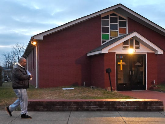 Bishop Marcus Campbell lives next door to his church, Mt. Carmel Missionary Baptist. After spending four years in prison for drugs in the 1990s, Campbell was ordained in 2002 and became the pastor at Mt. Carmel four years later.