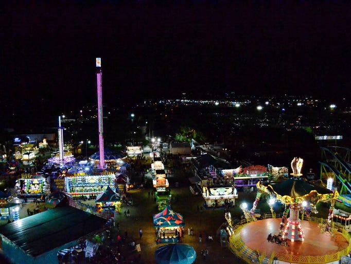 The Ferris wheel at the Central Florida Fair looks