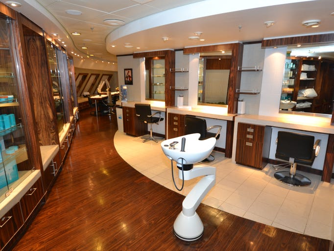 First look inside cunard line 39 s revamped queen mary 2 for Beauty salon usa