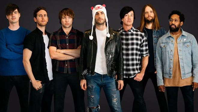 Maroon 5 is the first music concert booked for the new Milwaukee Bucks arena.