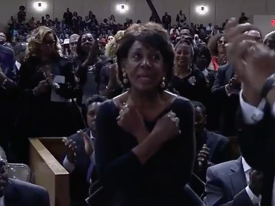 """Congresswoman Maxine Waters, D-Calif., is among African Americans for whom the notion of """"Wakanda Forever"""" resonated after the success of the """"Black Panther"""" movie."""