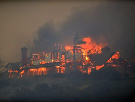 AP CALIFORNIA WILDFIRES A WEA USA CA