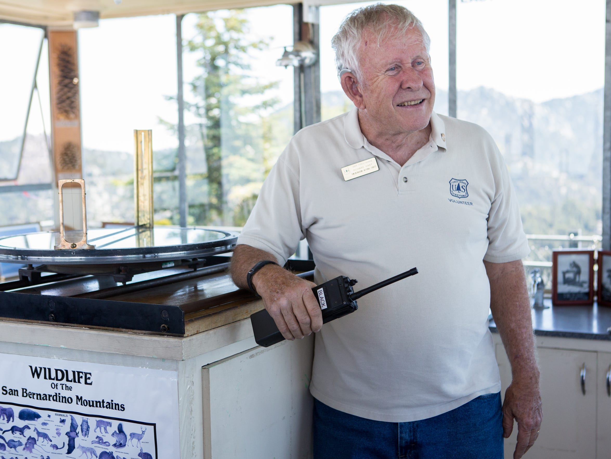 Black Mountain Fire Lookout volunteer Richard Hart