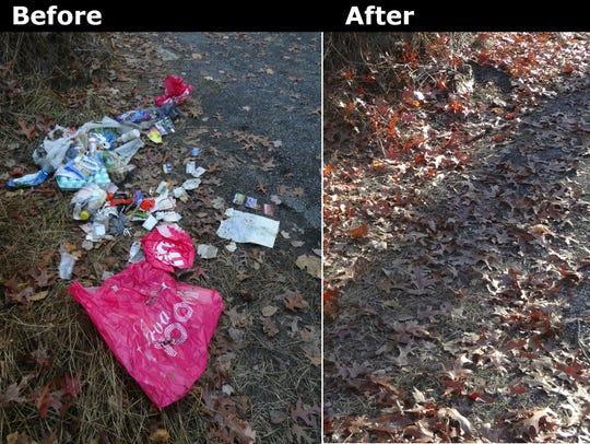 Volunteers have cleaned up Rattlesnake Run Road in