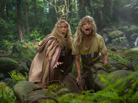 Goldie Hawn, right, and Amy Schumer fight for their