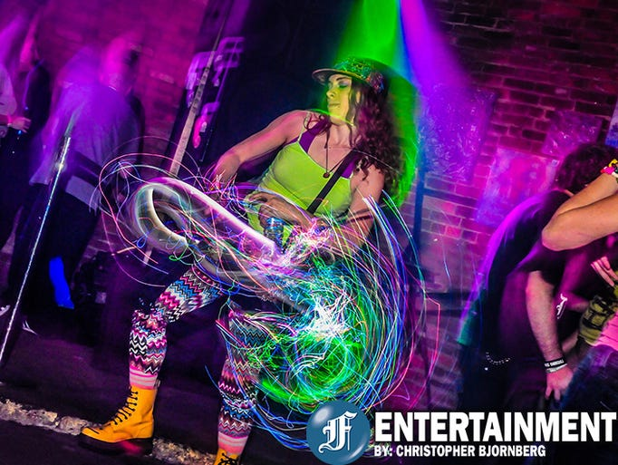 Revelers donned all sorts of neon colors at the Glow
