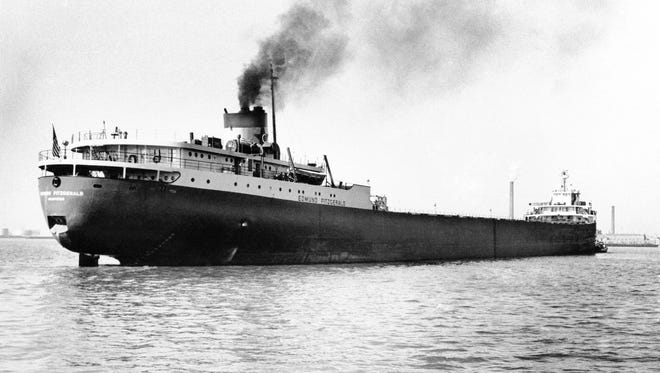 The Great Lakes freighter Edmund Fitzgerald is shown in this 1959 photo.