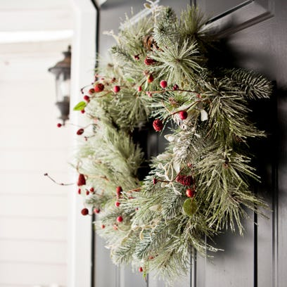 Christmas wreaths send out a welcoming vibe against