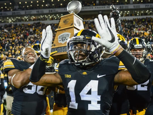 Iowa cornerback Desmond King was named to the all-Big