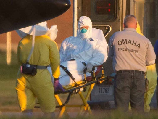 Reports: 3rd Ebola patient headed to Nebraska