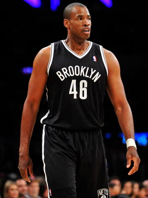 Nets center Jason Collins returned to the NBA court Sunday for the first time after revealing he is gay.