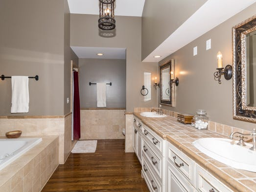 Hot property zionsville ranch is equestrian s dream home for 9 x 10 master bathroom