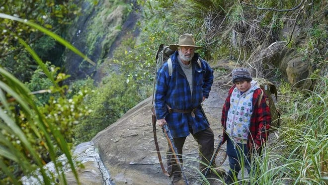 """Sam Neill, left, and Julian Dennison star in """"The Wilderpeople."""" Raised on hip-hop and foster care, defiant city kid Ricky gets a fresh start in the New Zealand countryside. When a tragedy strikes that threatens to ship Ricky to another home, both he and Hec (Neill) go on the run in the bush."""
