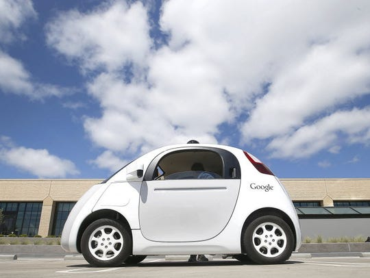 Google's self-built, self-driving two-person prototype,