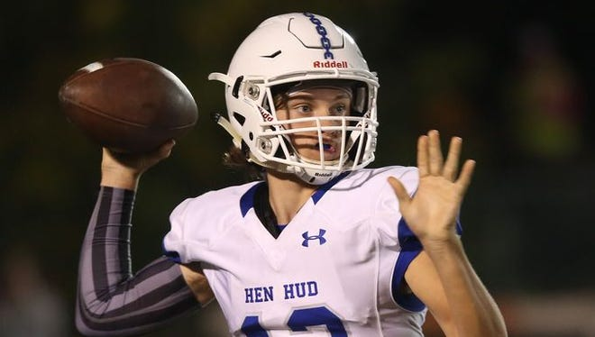 Hen Hud quarterback Nick Cunningham was named the Week 6 Player of the Week after leading his team back to beat Rye, 50-49, on Sept. 30, 2016 at Rye High School.