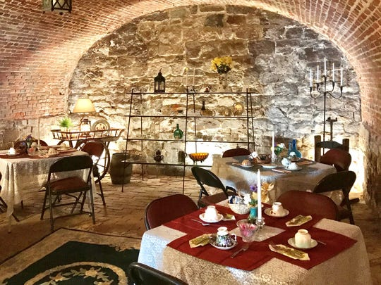 """A Delightful Valentine's Tea"" will be served in the afternoon and evening on Feb. 14 at the Proprietary House in the Perth Amboy museum's Colonial brick-and-stone wine cellar."