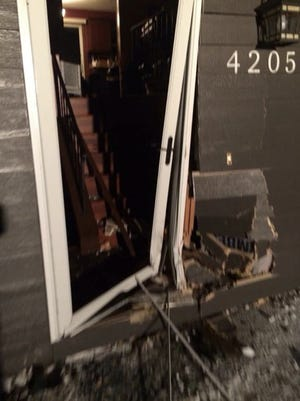 A home at 4205 S. Palisade Lane was struck by a hit-and-run driver early Thurdsay morning.