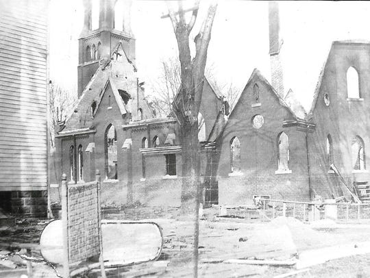 St. Mary's Catholic Church in Nichols was nearly destroyed