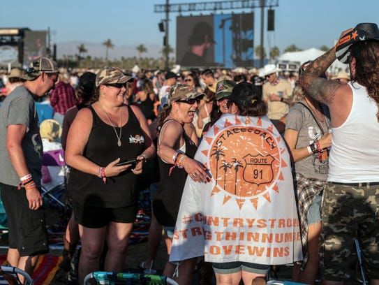 Apr 27, 2018; Indio, CA, USA; About 600 survivors of
