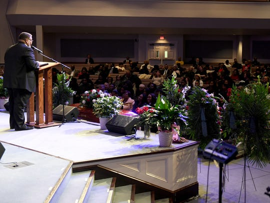 Pastor Daryll Coleman officiated the celebration of