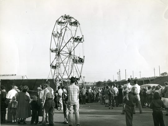 Grand opening of the Styertowne mall in 1950.