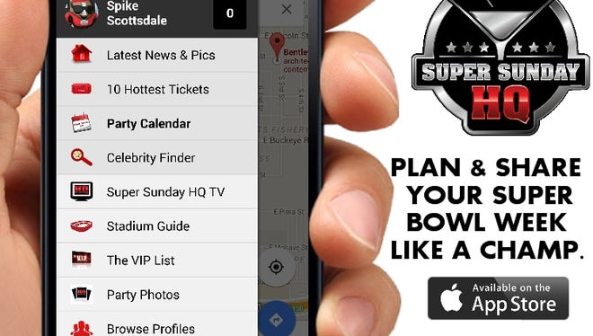 The new Super Sunday HQ Super Bowl party app.