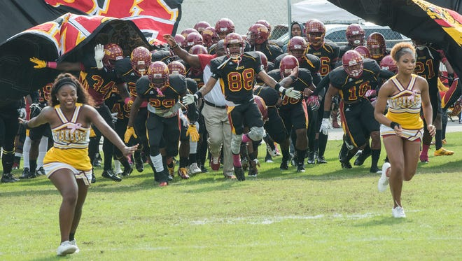 The Tuskegee Golden Tigers faced the Central State Marauders on Saturday, Oct. 31, 2015, in Tuskegee.