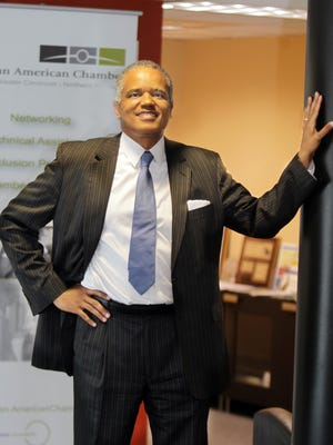 Eric Kearney, president and CEO of the Greater Cincinnati Northern Kentucky African American Chamber of Commerce, wants to expand the organization's membership and make its programs more relevant.  He is in the organization's office in Walnut Hills.