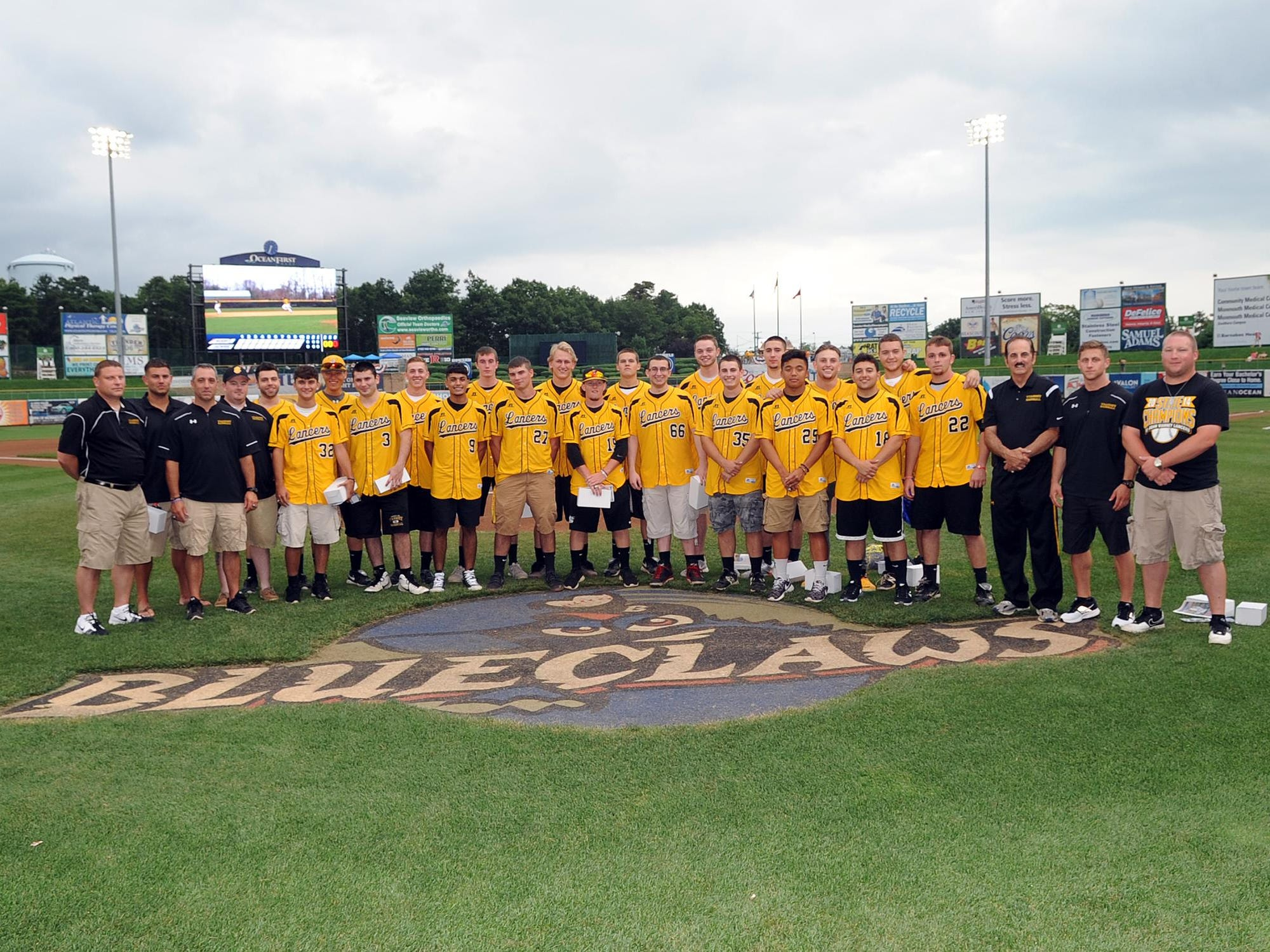 St. John Vianney's 2014 state championship baseball team was inducted into the BlueClaws Ring of Honor on Wednesday in Lakewood.