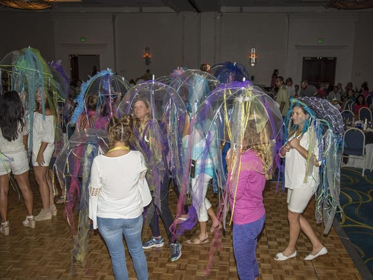 Jellyfish on parade in Rancho Mirage