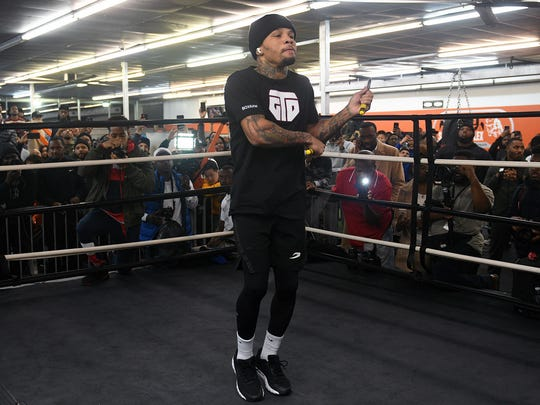Gervonta Davis worked out for the media ahead of his fight with Yuriorkis Gamboa on Saturday in Atlanta. Jason McDonald / Showtime