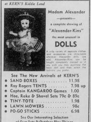 This ad for Kern's Kiddie Land ran in the May 12, 1956 edition of the Monroe Morning World.