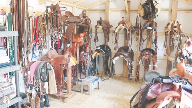 As Forget Me Not Horse Rescue and Sanctuary has grown, new facilities have been added including a tack shop that houses a variety of equine products for sale. The items have been donated.