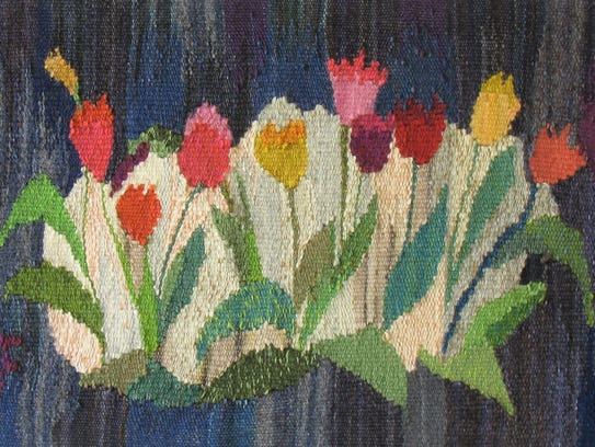 Mary Flad exhibits her tapestry weavings at Christ