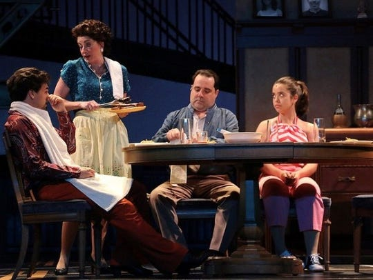 "Cristina Pines (far right) as Linda Manero in ""Saturday"