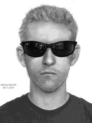 This police artist's sketch was released by the Wichita Falls Police Department and depicts a man in his 20s or 30s who attempted to abduct a juvenile girl Sept. 4 near Rider High School and Jefferson Elementary.