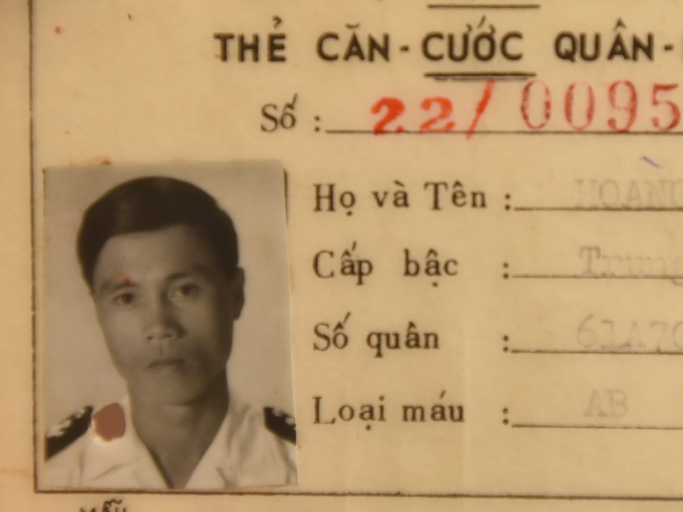 Binh Hoang, a former sailor with the South Vietnamese Navy, fled with his family to Guam in 1975.